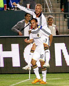 Landon Donovan and David Beckham - LA Galaxy