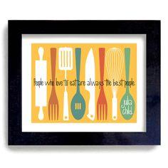 Colorful Julia Child Kitchen Quote