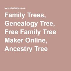 Build your Free Family Tree website easily and effortlessly
