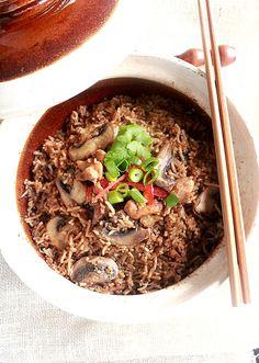 claypot chicken rice. one pot meal