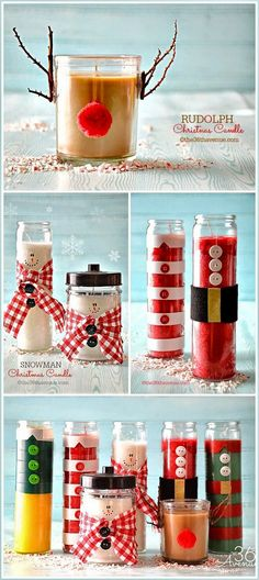 Transform Ordinary Candles Into Adorable Christmas Gifts