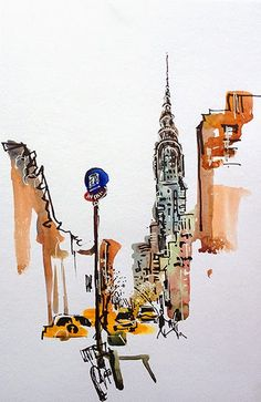 Urban Sketchers: Back in New York: The joy of being a Tourist
