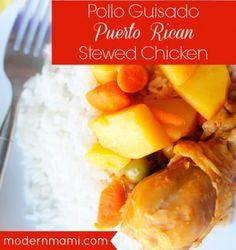 Pollo Guisado, Puerto Rican Stewed Chicken Recipe