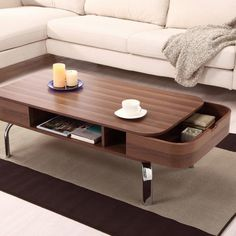 Perla Coffee Table with Storage - for family room?