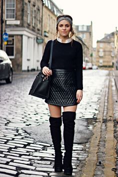 Ladylike bags and Thigh-high boots