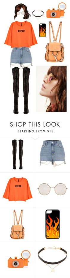 """Velma 2.0"" by deadlynight ❤ liked on Polyvore featuring Jeffrey Campbell, River Island, Illesteva, Chloé, Jennifer Zeuner, jeepers, 60secondstyle and PVShareYourStyle"