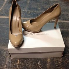 New Lowered price!Nude bcbgeneration heel Worn once. Really pretty platform nude heels BCBGeneration Shoes Heels
