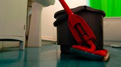 Add Vinegar or Window Cleaner to Mop Water for Fast-Drying, Streak-Free Floors - well thats a handy tip