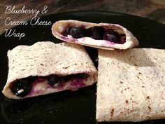 Blueberry and Cream Cheese Wrap Cheese Wrap, Blueberry, Good Food, Tasty, Cream, Healthy, Ethnic Recipes, Creme Caramel, Berry