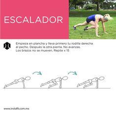 Trabaja tus abdominales y al mismo tiempo realiza cardio con este ejercicio. Checa más movimientos en nuestra página.