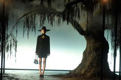 Lanvin Fall 2011 There was a large willow tree placed at the base of the runway, which made it seem like the models were emerging from a forest every time they entered.