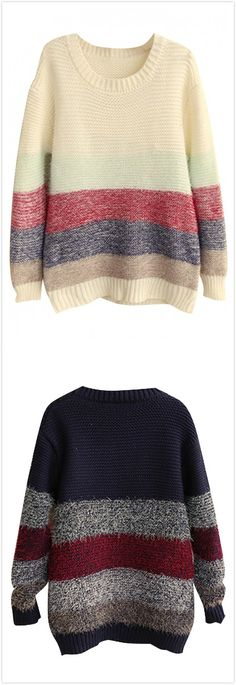 Cozy Fuzzy Color Block Long Sleeve Pullover Sweater