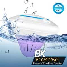 BX Floating IPX7 Water Proof Bluetooth Speaker with LED Lights Scene for Mobile Phone & Other Bluetooth Enabled Devices. Big wireless sound. And it knows how to swim, too. Pair with smartphones, tablets or other Bluetooth® enabled devices for streaming music or other audio. Completely waterproof! Use it in the shower, pool, hot tub-wherever it's wet and you want your music. Floating and submersible to 3 ft. under water (IPX-7 Rating). Up to 33-foot wireless range-so your device can stay…