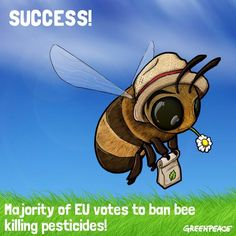 Good news for our friends! Learn more here: http://www.greenpeace.org/eu-unit/en/News/2013/Majority-of-EU-countries-support-partial-ban-of-bee-killing-pesticides/