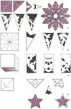 Paper Snowflake Pattern  Sterne Stars    Snowflake