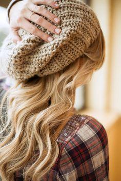 Hair, Nails, Beanie, Flannel.