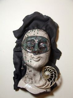 raku mask, Josie Dreams of the Sea, by Tammy Vitale 11/14.
