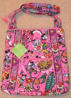 NWT Pink Disney Vera Bradley Hipster Mickey Minnie Bag