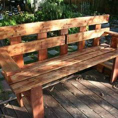 Homemade Benches For Outside Ideas | Garden Bench Made By David Sipi