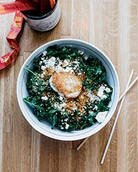 Kale Salad with Garlicky Panko