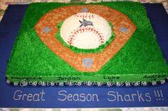 Coolest Baseball Diamond Cake... This website is the Pinterest of birthday cake ideas