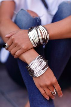 VivaLuxury - Fashion Blog by Annabelle Fleur: SIMPLE GEOMETRY #silverbracelets