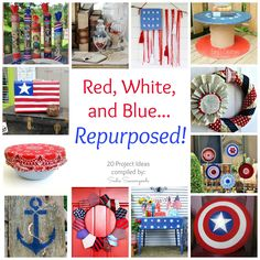 Create DIY Patriotic ideas for your home and garden by upcycling and repurposing things you already have- show love of country with love of planet!