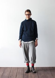 VCK-96 cotton high neck knit