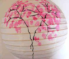 Decorate a paper lantern