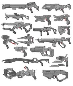 Mixed weapons, David Sequeira on ArtStation at https://www.artstation.com/artwork/mixed-weapons