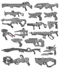 ArtStation - Mixed weapons, David Sequeira