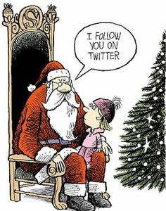 Santa follows you on Twitter