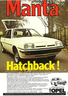 Opel Manta Hatch Advert from 1979 edition of Executive Magazine.