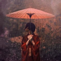 Photographer Reylia Slaby Finds Cultural Identity in Japan Through Stunning Images - My Modern Met Rain Dance, I Love Rain, Art Beat, Cultural Identity, Under My Umbrella, Large Umbrella, Red Umbrella, Model Foto, Singing In The Rain
