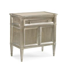 Interior HomeScapes offers the Smoke Finish Nighstand with Silver Leaf Accents by Caracole. Visit our online store to order your Caracole products today. Grey Wood, Brown Wood, Console Table, Bedside Tables, Buffet Tables, Caracole Furniture, Gray Furniture, Door Furniture, Furniture Storage