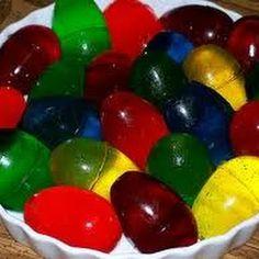 Easter Jello Eggs ... I don't like Jello but that's fun