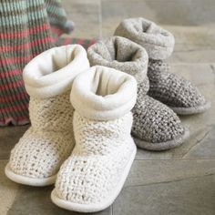 knit and lined slippers. I need these