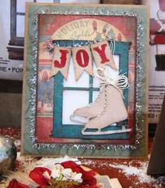 Tim Holtz Alterations Sizzix Christmas- Just because I want to remember the tinsel behind the tag placement!