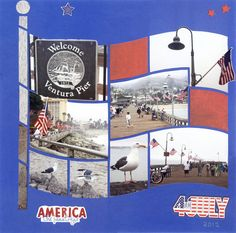 Photo Collage created by Alice, Lea France designer using American Flag Stencil.#Photos #Collage #Designs #Stencils #PhotoCollage #Flags