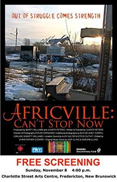 Africville - Documentary filmmaker Juanita Peters presents a moving portrait of a community that has survived despite having lost its home.