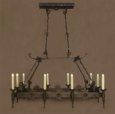 Our handmade reproduction iron light fixture, The Radis.
