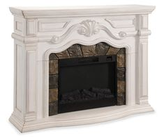"62"" Grand White Electric Fireplace at Big Lots.                                                                                                                                                                                 More"