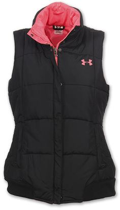 Under Armour puffer vest - black/pink.