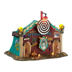 Department 56 Snow Village Halloween Dolly's World of Hypnosis Lit House 5.71-Inch