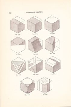 1886 Geometric Technical Drawing.