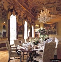 Brocket Hall, Hertfordshire: Britain's most racy stately home - Telegraph Elegant Dining Room, Dining Room Design, Monuments, Belton House, English Country Manor, Interior Decorating, Interior Design, Decorating Ideas, Classic Interior