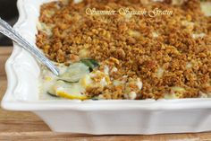 This gratin features both zucchini and yellow squash for a luscious any time of year treat! Summer Squash Gratin