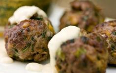 Unsure what quick, easy bites to make for your dinner party? This lamb meatball recipe is ideal as an appetizer or a main dish with rice. Greek Recipes, Meat Recipes, Cooking Recipes, Greece Food, Lamb Meatballs, Greek Cooking, Greek Dishes, Albondigas, Sweet And Salty