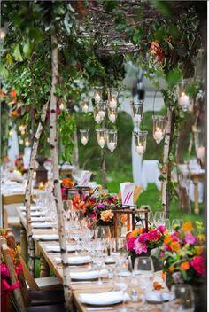 romantische Gartenpa