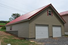 Houses with Red Metal Roof | 12 pitch with red metal roof